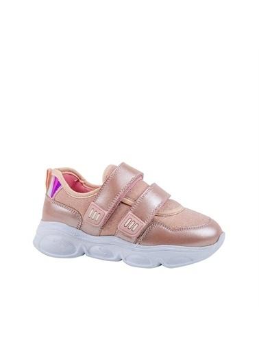 Kids A More Simony Çift Cırtlı Air File Detaylı Deri Kız Çocuk Sneaker  Pembe
